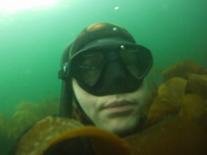 Head in the kelp